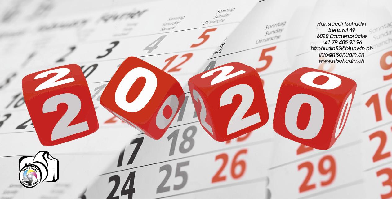 Kalender 2020 A4 quer Titelblatt